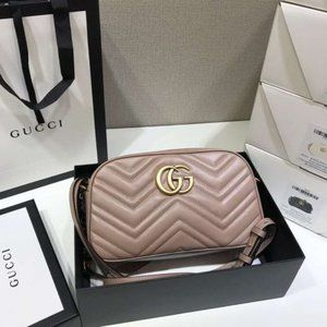 GG Marmont small matelasse shoulder bag Dusty Pink